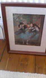 Framed degas prints