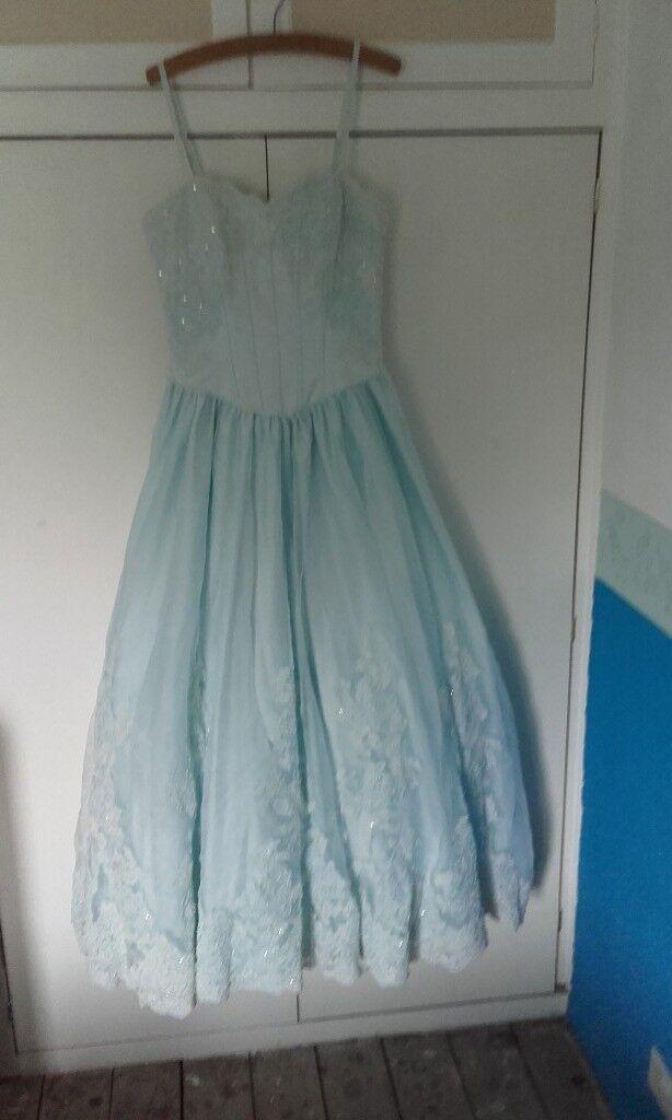 Beautiful baby blue evening/prom/bridesmaid dress