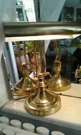 Vintage brass reading lamp