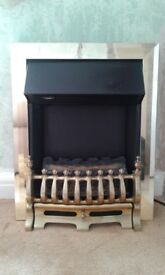 Golden and black electric fireplace for sale