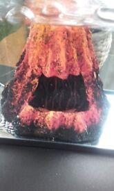 Fish tank volcano ornament