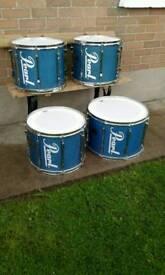 4 Pearl tenor drums