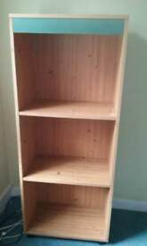 4ft Pine bookcase