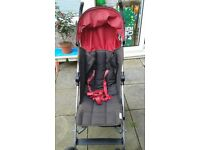 Mamas and Papas Swirl Pushchair with footmuff and raincover.