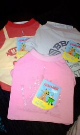 BRAND NEW dog t-shirts originally £4 but selling for £1.00 each