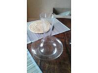 Plain glass decanter