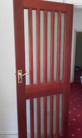 Solid Oak and glass doors. External or internal.