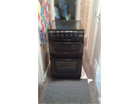 Cannon black gas cooker with lid £80