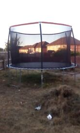 12ft trampoline for sale , hardly been used