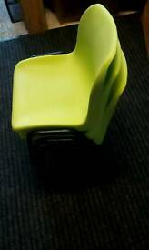 3xplastic stacker chairs