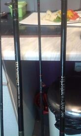 3 fishing rods, sold seperately, read description