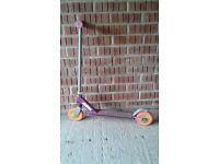Girls toddler scooter pink with back brake