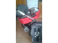 Quinny Buzz Travel system 3 in 1 Pram, Carrycot and Car seat with original accessories
