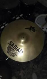 Sabian xs20 crash cymbal for drum kit.