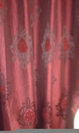 Lovely burgundy lined curtains