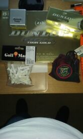 Golf Laser Trainer / 17 Dunlop Balls / Plastic and Wood tees /Distance Finder