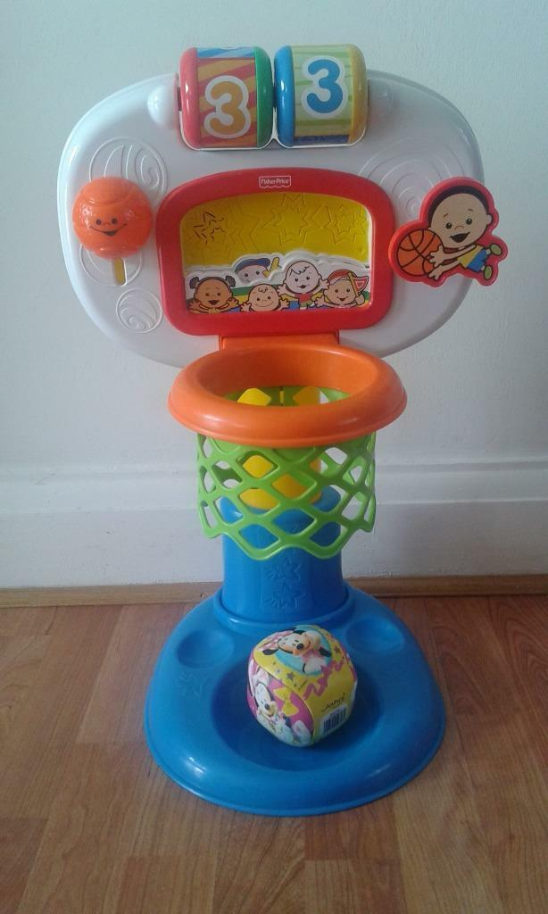 Fisher Price brilliant basics basketball basket musical toy + ball | in Ilford, London | Gumtree