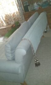Sofa Two and half Seater As New Condition Blue and Grey