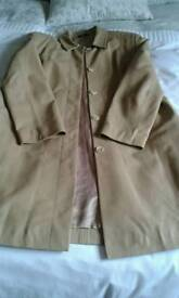 3/4 ladies marks and Spencer leather coat