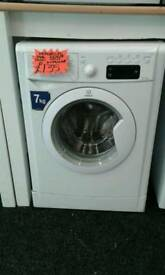 INDESIT 7KG 1200 SPIN WASHING MACHINE IN WHITE