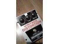 Behringer Vintage Distortion Guitar Effects Pedal