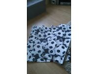 Tab Top Football Curtains approx 66x72 inch