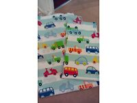 Boys canvas wardrobe curtains and bedset