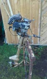 Outboard engine running project restoration barn find