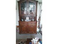 Dutch Oak bookcase/display cabinet