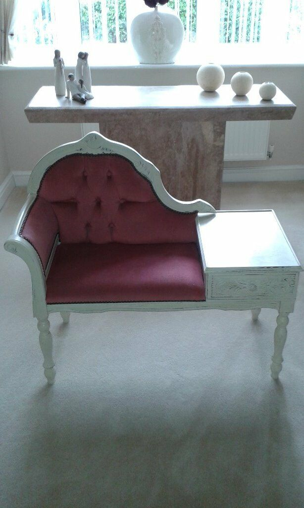 shabby chic telephone seatin Retford, NottinghamshireGumtree - shabby chic telephone seat finished in old ochre and hand waxed for the shabby chic look. Recently refurbished by present owner and would make a perfect feature in any home