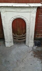 1 Old reclaimed Cast Iron fireplaces, Exelent condition £20
