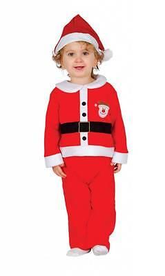 Baby Weihnachtsmann kostüm für Jungen Kinder bis 3 Jahre Nikolaus 42522-42523 NW ()
