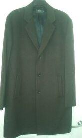 reiss 3/4 lentgh wool overcoat
