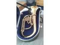 Boosey and Hawkes 400 series baritone horn in excellent condition. Includes case and mouthpiece.