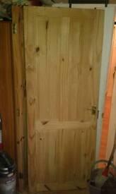 2x 4 panel solid pine doors