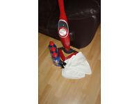 Vileda Electric Hot Spray Mop Plus 3 Bottles of Spray Cleaner ans 3 Extra Floor Pads