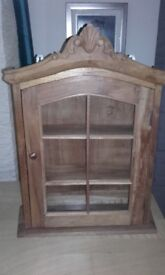 'Antique' Pine Small Display Cabinet