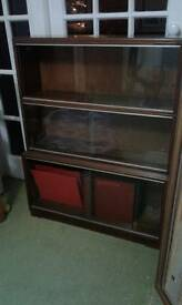 3 display cabinets/bookcases stacking can be 2 or 3 high