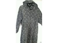 Warm Animal Print Onesie with hood, size M