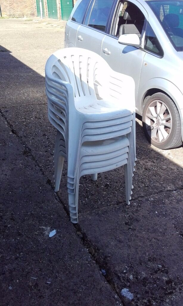 White plastic chair for sale £3 each