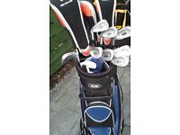 New Complete Left Handed Golf Package. Woods,Irons,Putter,Cart Bag, Trolley,Umbrella,Glove,Box/Balls