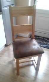 Oak dining chair ex barker and stonehouse