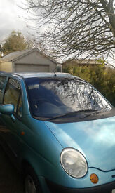 Daewoo Matiz 1L SE with 12 month MOT and low mileage at 48k