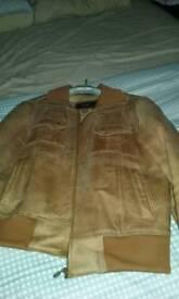 Tan leather jacket size medium