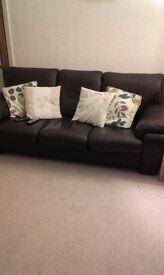 immaculate leather sofa
