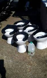 Toilets x5, children size! Plant pots?? garden ornaments