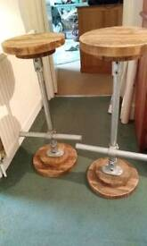 Inustrial look bar stools
