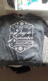 A day to remember jumper. Put it on once and that was to try it in the shop. Its spanking new