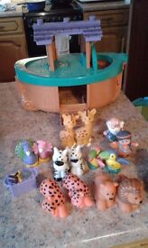 Fisher price Noahs Arc with animals and Noah&wife