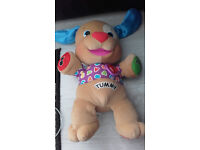 FISHER PRICE LAUGH & LEARN ABC TALKING SINGING TEDDY BEAR